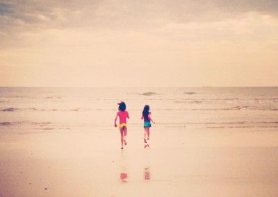 Sisters at Cocoa Beach