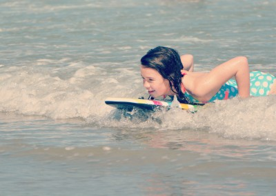 Bodyboarding at Cocoa Beach