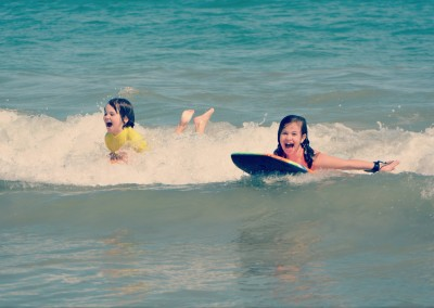 Body boarding at Cocoa Beach
